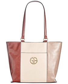 Tri Color Glazed Tote, Created for Macy's