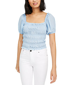 Lucy Daisy Ruched Square-Neck Top