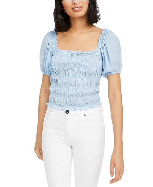 Lucy Paris Lucy Daisy Ruched Square-Neck Top