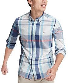Men's Haiden Classic-Fit Stretch Plaid Shirt
