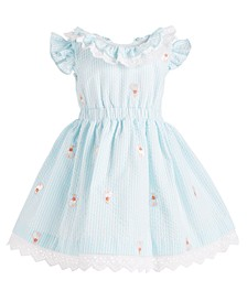 Baby Girls Seersucker Bunny Dress