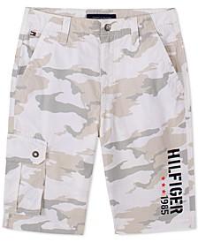 Little Boys Jesse Camouflage Logo-Print Cargo Shorts
