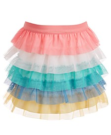 Little Girls Rainbow Tulle Tiered Skirt, Created for Macy's