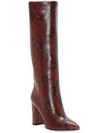 INC Women's Paiton Block-Heel Boots, Created For Macy's