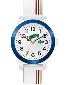 Kid's Swiss 12.12 White Silicone Strap Watch 32mm