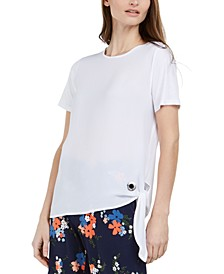 Mixed-Media Tie-Hem Top, Regular & Petite
