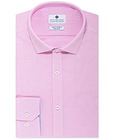 Men's Ultimate Slim-Fit Non-Iron Performance Stretch Pink Nailhead Dress Shirt, Created for Macy's