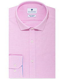 Ryan Seacrest Distinction™ Men's Ultimate Slim-Fit Non-Iron Performance Stretch Pink Nailhead Dress Shirt, Created for Macy's