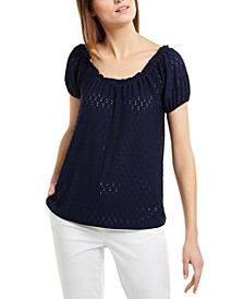 Sheared Jacquard Top, Regular & Petite