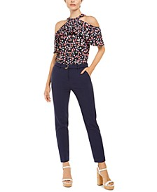 D-Ring Belted Pull-On Pants