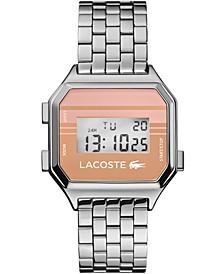 Men's Digital Berlin Stainless Steel Bracelet Watch 34mm