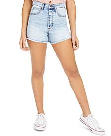 Juniors' High-Rise Cut-Off Denim Shorts