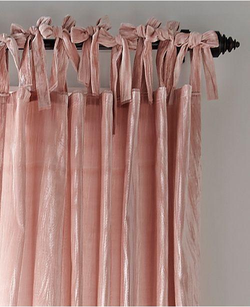 Tie Top Crushed Velvet Curtain Panel