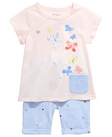 Toddler Girls Butterfly Tunic & Shorts Separates, Created for Macy's