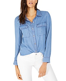 Flap-Pocket Button-Down Shirt