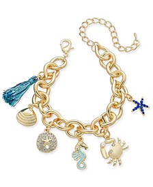 Gold-Tone Sea Life Charm Bracelet, Created for Macy's