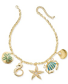 "Gold-Tone Sea Life Charm Necklace, 18"" + 3"" extender, Created for Macy's"