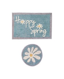 Happy Spring 2-Pc Bath Rug Set