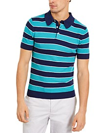 Men's Slim-Fit Wide Stripe Polo Shirt