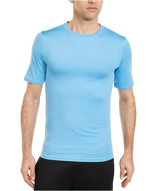 Club Room Men's Solid Short Sleeve Rash Guard, Created For Macy's