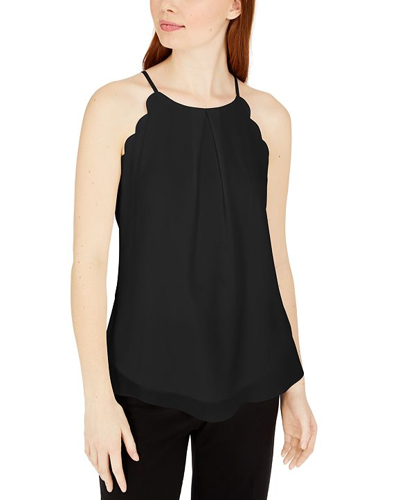 BCX Juniors' Scalloped Sleeveless Top