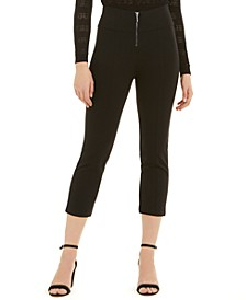Emma Cotton Zip-Up Capri Pants