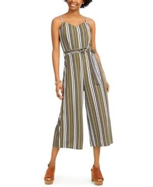 Juniors' Striped Jumpsuit