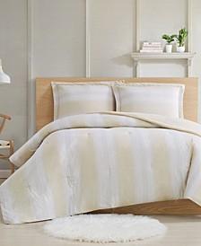 Farmhouse Stripe 3-Piece Full/Queen Comforter Set