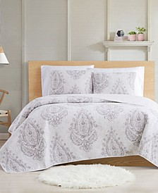 Paisley Blossom 3-Piece Full/Queen Quilt Set