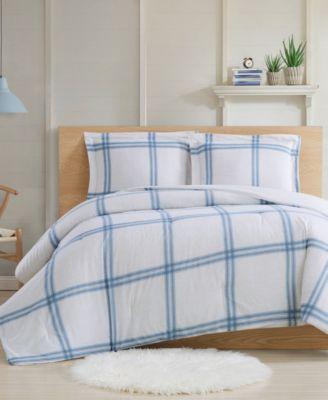 Farmhouse Plaid 3-Piece Full/Queen Comforter Set