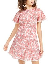 Juniors' Floral A-Line Dress