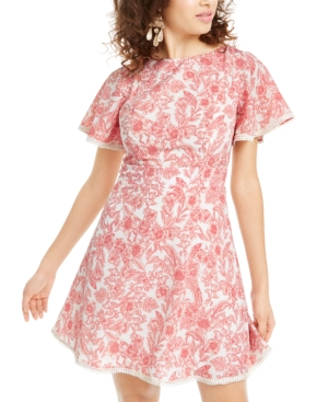 B Darlin Juniors' Floral A-Line Dress