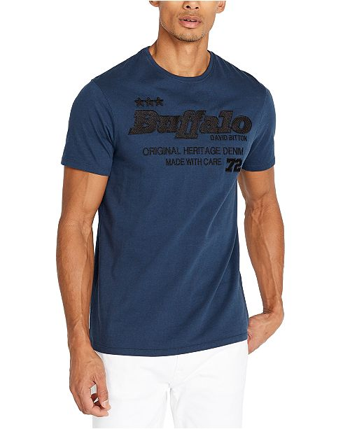 Buffalo David Bitton Men's Embroidered Logo T-Shirt