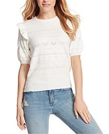 Emilia Ruffle-Sleeve Sweater