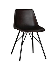 Accent Chair with Leather Upholstery