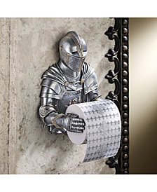 Design Toscano Knight To Remember Gothic Bath Tissue Holder