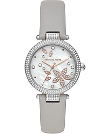Women's Parker Gray Leather Strap Watch 33mm