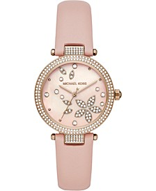 Women's Parker Blush Leather Strap Watch 33mm