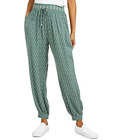 Juniors' Smocked Jogger Pants