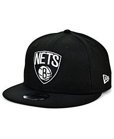 Brooklyn Nets Black White 9FIFTY Snapback Cap