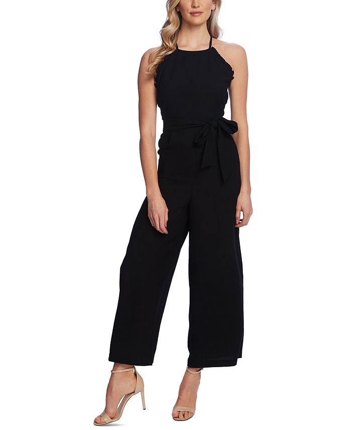 CeCe - Ruffled Belted Jumpsuit