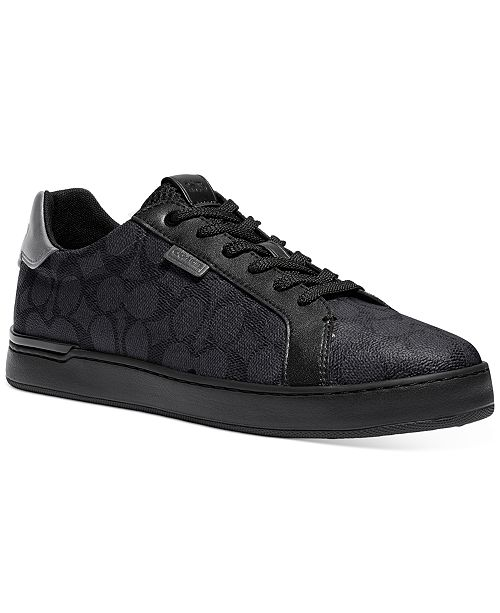 COACH Men's Low Line Signature Low-Top Sneakers