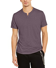 INC Men's Split-Neck T-Shirt, Created for Macy's
