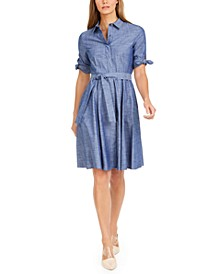 Cotton Chambray Shirtdress