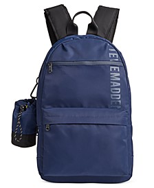 Men's Backpack with Water Bottle Pouch