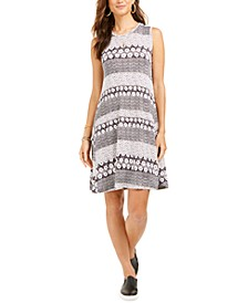 Printed Crewneck Dress, Created for Macy's
