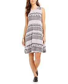 Printed Crewneck Dress, Created for Macy's