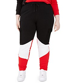 Trendy Plus Size Colorblocked Track Pants