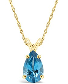 Swiss Blue Topaz (3-5/8 ct. t.w.) Pendant Necklace in 14K Yellow Gold. Also Available in Amethyst and Swiss Citrine