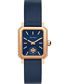 Women's Robinson Blue Leather Strap Watch 27mm